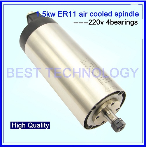 1.5KW ER16 Air Cooled CNC Spindle Motor Air Cooling